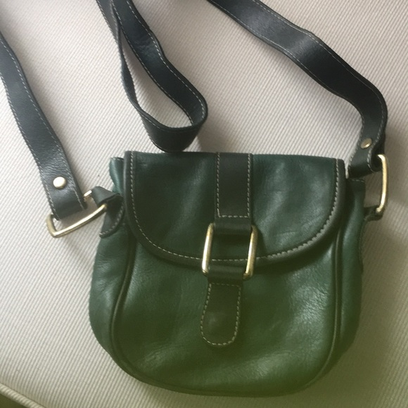 Charter Club Handbags - Charter Club Green Leather shoulder small purse